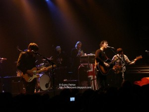 Pete with Graham Coxon (Blur) on stage